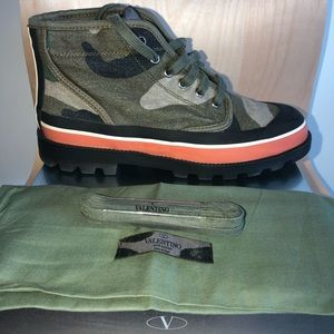 Valentino Garavani Camouflage Boots